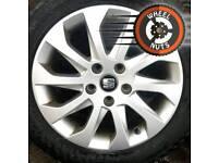 """16"""" Genuine Seat alloys Caddy Golf Leon etc, excellent cond premium tyres."""