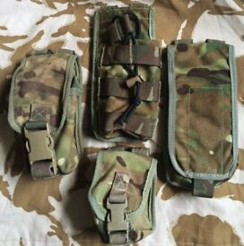 CURRENT BRITISH ARMY WEBBING MTP OSPREY MOLLE PLCE POUCHES MULTICAM VGC GENUINE ISSUE SOLDIER TROOPS