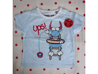 NEW with tag, Planeta Toro, 100% cotton, round neck, short sleeve t-shirt. Age 12-18 mths.£2.50 ovno