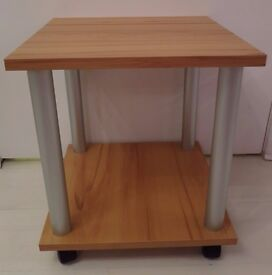 Side Table / Trolley in Light Oak / Beech Effect. NEW.