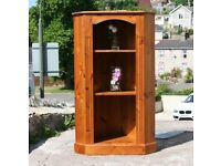 Solid Pine Corner Cabinet Display Unit