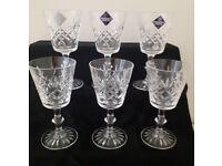 6 x Edinburgh Crystal Sherry or Small Wine Glasses