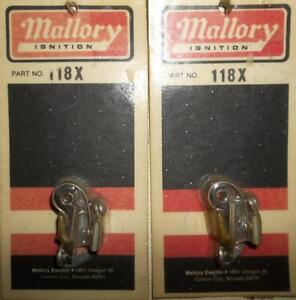 2 - MALLORY #118X 48oz POINT SET 1959 to 73 DODGE SINGLE POINT