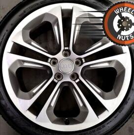 "19"" Genuine Audi Q3 Plus alloys perfect condition almost new tyres."