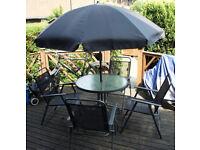 Simple Value 4 Seater Metal Patio Set