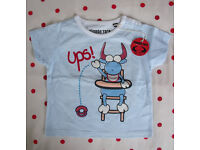 T-SHIRT:NEW with tag, Planeta Toro, 100% cotton, round neck, short sleeve. Age 12-18 mths.£2.50 ovno