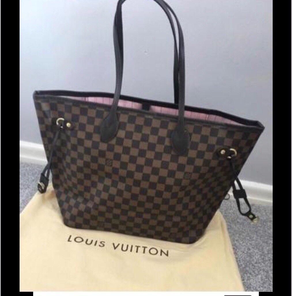 Louis Vuitton Neverfull Handbag Rose Ballerina Lining