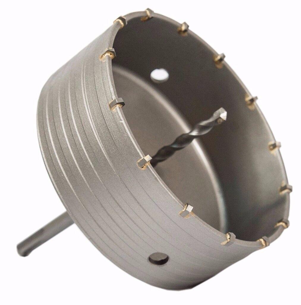 65-150mm SDS Plus SDS Max Carbide Hole Saw Drill Bit Set Kit + Shaft Wall Stone Best Brite Direct