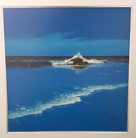 Large original seascape painting by Les Spence