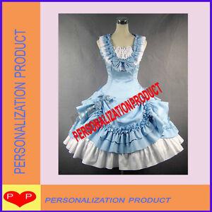 Sweet-lolita-light-blue-Ball-Gown-Halloween-Cosplay-Knee-Length-Dress-Skirt-2p