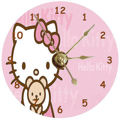 Hello Kitty With Teddy Bear Cd Clock