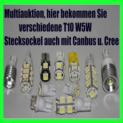 T10 W5w Cree Check Widerstand Led Smd Innenraumbeleuchtung Set Glassockel Birne