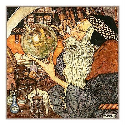 Father Time By Edmund Dulac Counted Cross Stitch Chart
