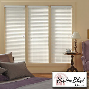 Window blind outlet premium faux wood blinds 31 x 36 w x for Window 48 x 36