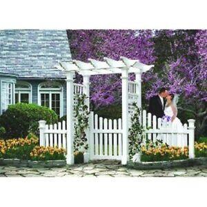 New england arbors decorative fairfield deluxe garden for Porte patio 60 pouces