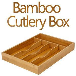 Bambou couverts boite bois tiroir de cuisine organisateur for Organisateur tiroir cuisine