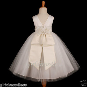 IVORY-PRINCESS-BRIDAL-PICTURE-BALL-GOWN-FLOWER-GIRL-DRESS-12M-2-4-4T-5-6-8-10-12