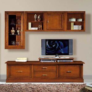 Mobile parete porta tv componibile soggiorno salotto ebay for Mobile per salotto soggiorno