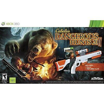 Cabela's Dangerous Hunts 2011 Xbox 360 Wireless Gun & Game Bundle Sealed