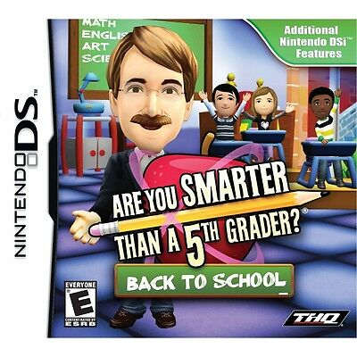 Are You Smarter Than A 5th Grader Back To School Nintendo Ds Dsi Sealed