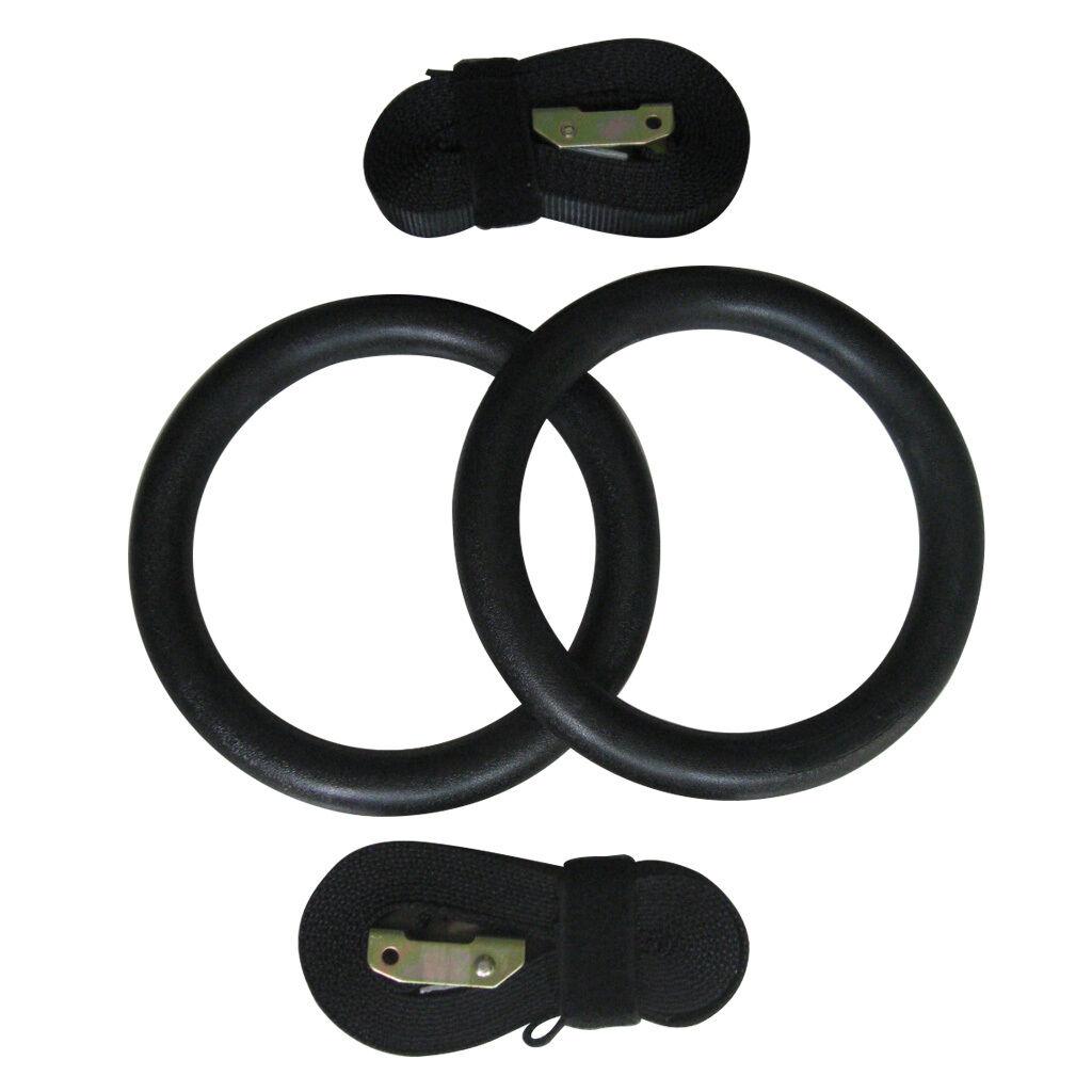 Backyard Gymnastic Rings : Gym Ring Gymnastics Rings w Straps Portable Olympic Crossfit Strength