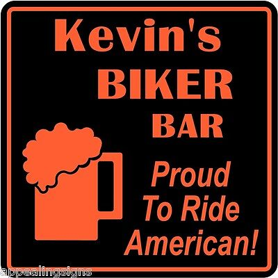 Personalized Custom Name Motorcycle Ride American Beer Bar Gift Sign  9