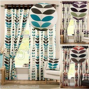 NEXT-SEASONS-DESIGNER-EYELET-RING-TOP-LINED-CURTAINS-TEAL-SPICE-PURPLE-W46-66-90