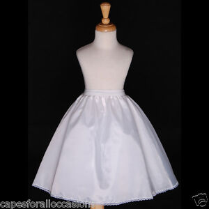 FREESHIPPING-WEDDING-FLOWER-GIRL-DRESS-PETTICOAT-SLIP-UNDERSKIRT-CRINOLINE-S-M-L