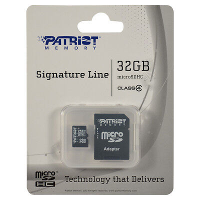 Patriot Memory 32gb Micro Sdhc Memory Card Microsdhc For Smartphone Tablet C4 R