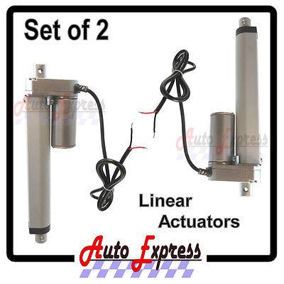 Linear Actuators Heavy Duty 6  Inch Stroke 225 Pound Max Lift 12 Volt Dc Set