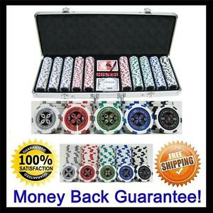 13.5g 500 Count Professional Casino Ultimate Las Vegas Poker Chip Set + Case 126