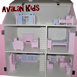 New Wooden Doll House Furniture set, 1/12 Scale Miniature Furniture Dolls House