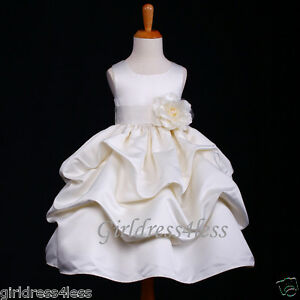IVORY-WEDDING-PRINCESS-PICK-UP-FLOWER-GIRL-DRESS-6M-12M-18M-2-4-6-8-9-10-11-12