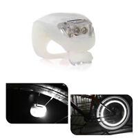 Bicycle Bike Safety LED Light - White (Set of 2)