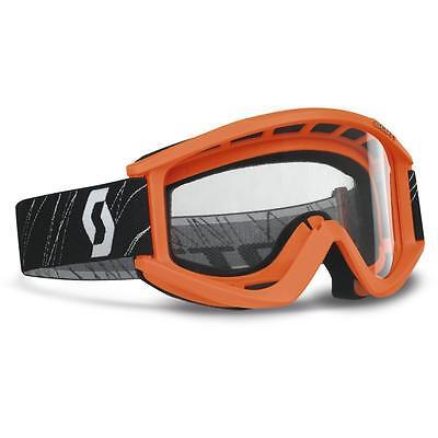 Scott Usa Recoil Xi Mx Off Road Mx Atv Goggles Orange / Clear Lens Afc