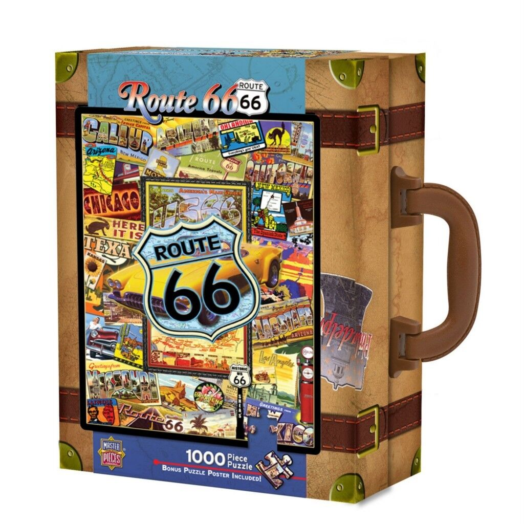 Masterpieces Collector Suitcase Puzzle Route 66 Kate Ward Thacker