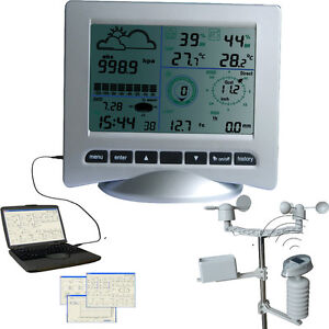 Profi Wetterstation Solar UV WH3080 PC USB Regen Wind