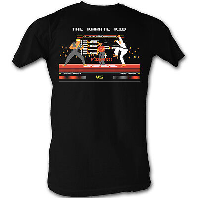The Karate Kid Johnny Vs  Daniel Fight Licensed Adult T Shirt