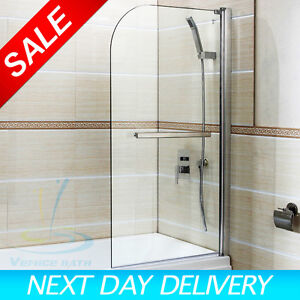 180 176 Pivot Radius Framed Glass Over Bath Shower Screen
