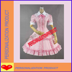Sweet-gothic-lolita-burlesque-cosplay-Ball-Gown-knee-length-stunning-pink-dress