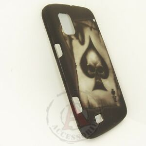For-ZTE-Warp-Rubberized-HARD-Protector-Case-Snap-on-Phone-Cover-Spade-Skull