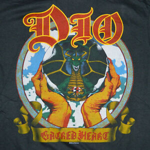 NOS-VTG-DIO-1985-SACRED-HEART-TOUR-T-SHIRT-M-RONNIE-JAMES-CONCERT-TEE-80S-ORIG
