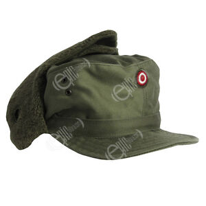 AUSTRIAN ARMY OLIVE COLD WEATHER FIELD CAP - SIZE 58