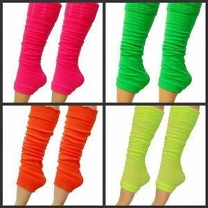 NEON-LEGWARMERS-PINK-GREEN-ORANGE-YELLOW-PURPLE-1980S-FANCY-DRESS