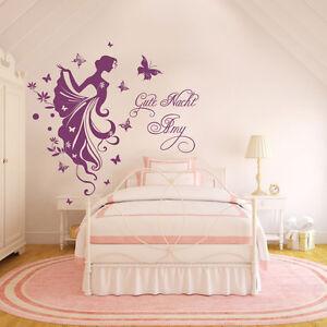 Wall Tattoo Kids : WALL-TATTOO-Good-Night-with-names-Request-Fee-Elf-Fairy-Kids-room-Wall ...
