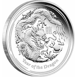Lunar II Year of the Dragon 2012 Silver Coin
