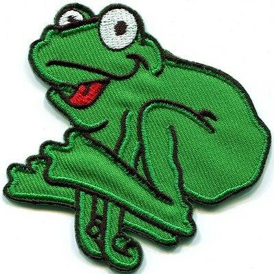 Frog Toad Hippie 70S Retro Fun Animal Amphibian Applique Iron On Patch New S 510