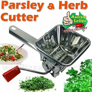 Stainless Parsley Cutter Herbs Mint Mill Chop Grinder★★