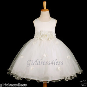 IVORY-PAGEANT-PARTY-WEDDING-PETALS-FLOWER-GIRL-DRESS-6M-12M-18M-2-4-6-8-10
