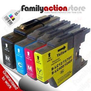 For-Brother-LC-75-LC-75XL-Blk-C-M-Y-High-Yield-Ink-Cartridges-LC-1240-Ink-4-Pk